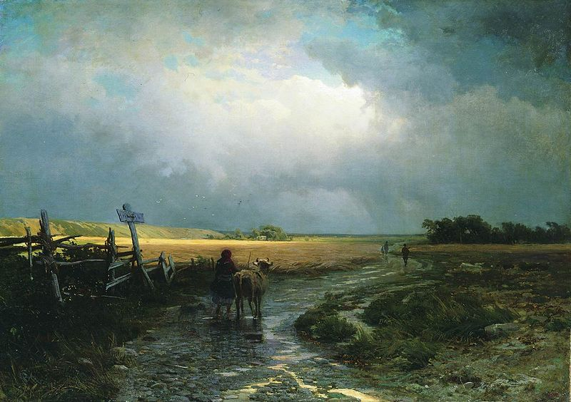 800px-Feodor_Vasilyev-_After_a_Rain,_Country_Road_-_detail